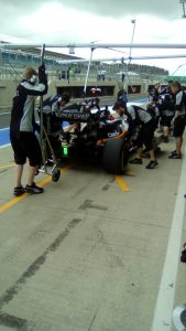 Sahara Force India F1 pit lane
